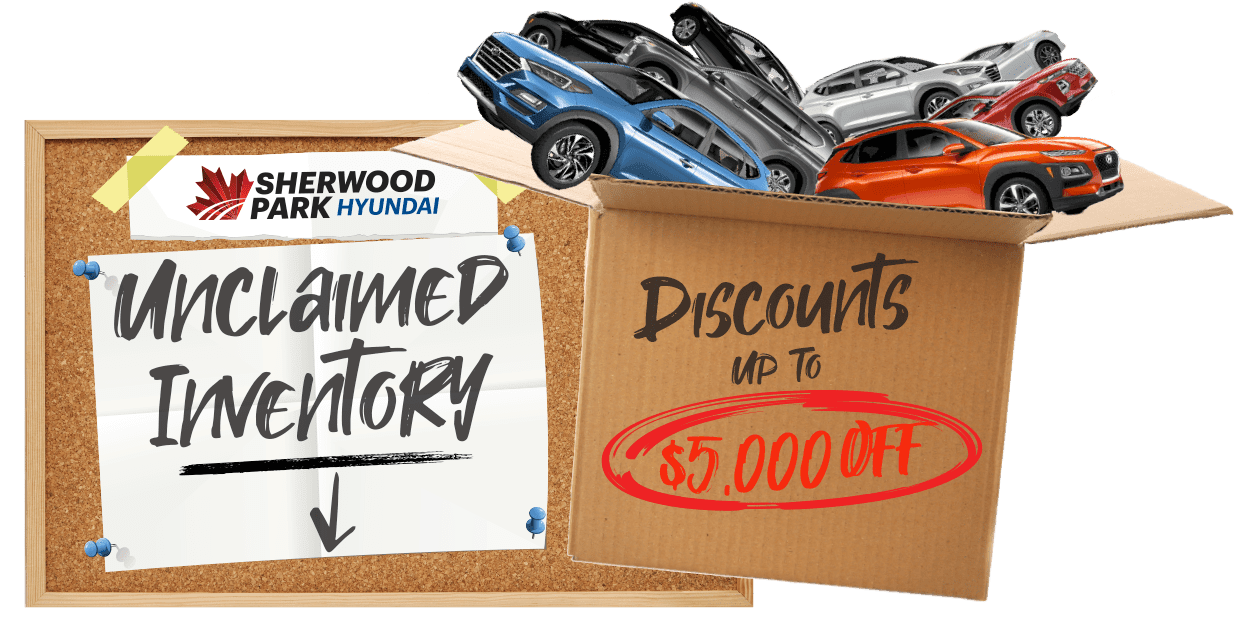 Unclaimed Inventory Clearout Sherwood Park Hyundai in 41 Automall Rd